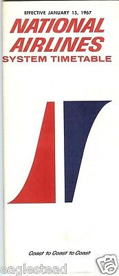 Airline Timetable - National - 15/01/67