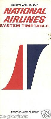 Airline Timetable - National - 30/04/67