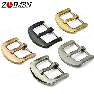 Watch Band Buckle Stainless Steel Silver Gold Plated Clasp 16mm~26mm Wholesale