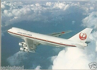 Airline Postcard - JAL - Japan Air Lines - B747 LR - JA8112 - AL Iss (P3199)
