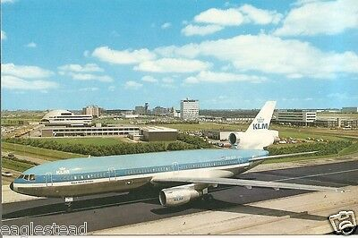 Airline Postcard - KLM - DC-10 - PH-DTF - Schipol Airport (P1982)
