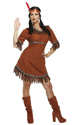 8/10/12 Sexy Indian Squaw Pocahontas Costume Ladies Fancy Dress Outfit Hen Night  sc 1 st  PicClick UK & 8/10/12 SEXY INDIAN Squaw Pocahontas Costume Ladies Fancy Dress ...