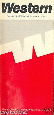 Airline Timetable - Western - 28/10/73