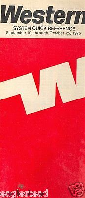 Airline Timetable - Western - 10/09/75