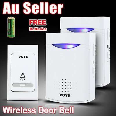 Wireless Door Bell Doorbell Set Digital Remote Control 2 Receivers 38 Chimes AU
