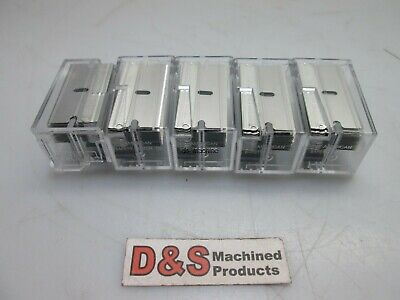 """New Lot of 5 American Safety Razor Blades with Dispenser 1-1/2"""" x 3/4"""" 10-Pack"""