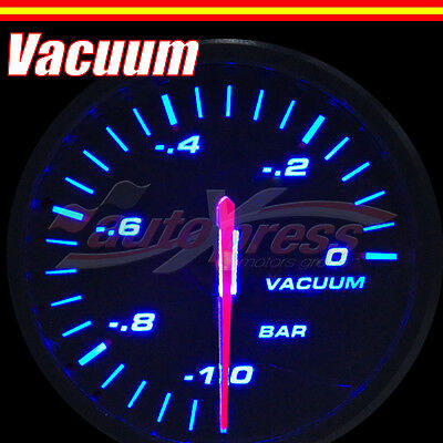 60mm 12V Stepper Motor Gauge BLUE Light SLIM Design RACING Meter VACUUM RATIO