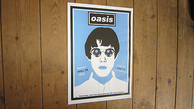 Oasis Maine Road Manchester Repro POSTER