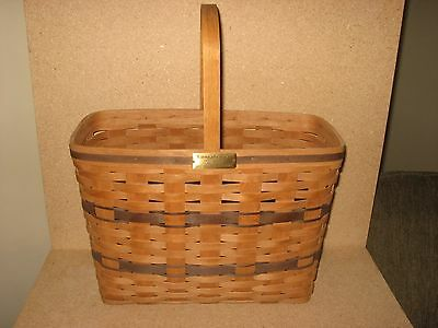 RARE Longaberger JW Collection 1987 Bread and Milk Basket FREE SHIPPING!
