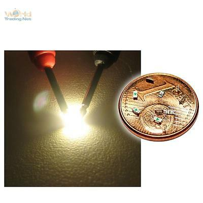 10 SMD LEDs WHITE 0603 WARMWEISS GOLDEN SMT weiss SUPER