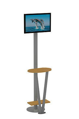"Brand New 24"" LED / LCD Monitor Kiosk with TableTop for Computer"