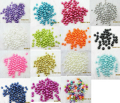 NEW 18 Colors ! 100PCS ABS Pearl spacer 6mm beads Craft/wedding Decoration DIY