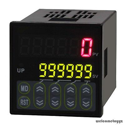 6 Digital LED Preset Scale Counter range 1-999999 OMRON relay build in