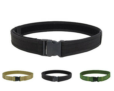 "Tactical 600D 1.5"" Nylon Load Bearing Combat Duty Web Belt 3 Colors BK/OD/TAN A"