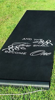 NEW Two Shall Become One Aisle Runner Black Wedding Hortense B Hewitt