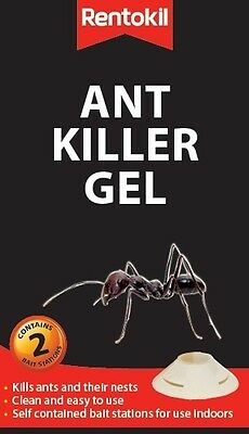 Rentokil Indoor Ant Killer Gel Twin Pack  Effectively Kills Ants and their Nests