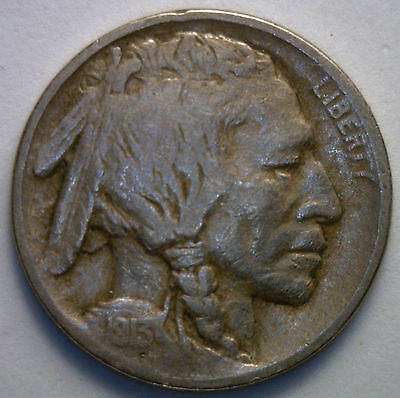 1913 Type 1 Buffalo Indian Head Nickel US Coin F