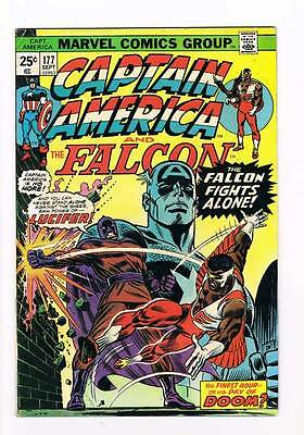 Captain America # 177  Falcon Lucifer grade 5.5 movie super scarce hot book !!