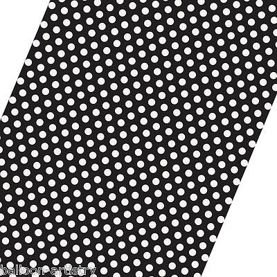 5ft Roll BLACK White Polka Dot Spot Style Party Gift Wrap Wrapping Paper