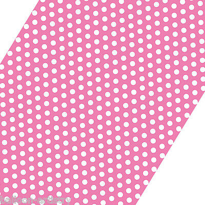5ft Roll PINK White Polka Dot Spot Style Party Gift Wrap Wrapping Paper
