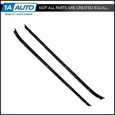 Outer Window Sweep Flat Bead Rubber Weatherstrip Pair for 70-81 Camaro Firebird