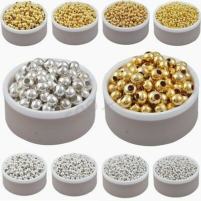 High quality !!! Gold & Silver Plated Alloy Spacer Loose Beads 3 4 5 6 8 mm