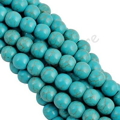 Wholesale 100% Turquoise Gemstone Spacer Loose Beads Charms 4 6 8 10 12 14 mm