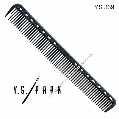 Y S Park Comb YS - 339 BLACK Carbon Hairdressing High Quality Cutting Comb