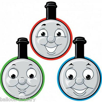 8 BLUE Thomas The Tank Engine Party Masks