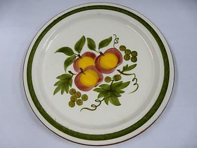 """STANGL POTTERY APPLE DELIGHT CHOP PLATE 12-1/2"""""""