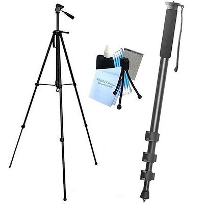 "75"" Heavy Duty Tripod TR-75 + 72"" Monopod fits all Digital Cameras and Camcorder"
