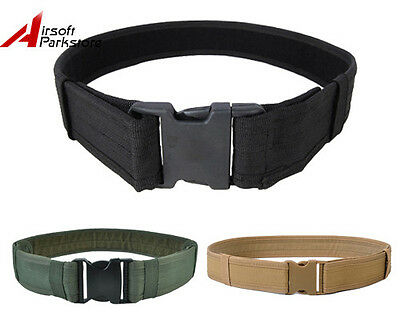 "Airsoft Tactical 600D 2"" Load Bearing Combat Duty Web Belt 3 Colors BK/Tan/OD A"