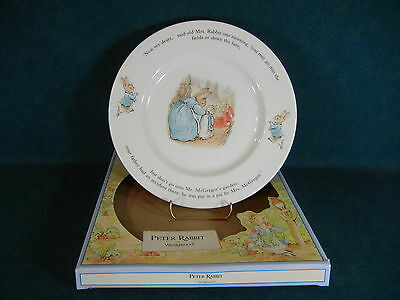 """Wedgwood Peter Rabbit 9 3/4"""" Dinner Plate - With Box"""