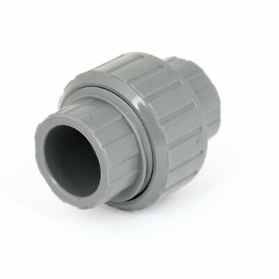 Replacement 20mm Hole Diameter Gray PVC Plastic Water Pipe Tube Adapter