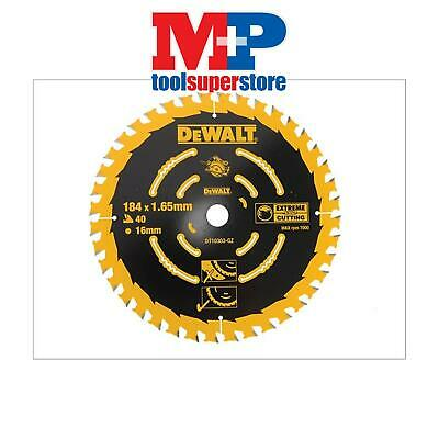 Dewalt Dt10303 Extreme Corded Circular Saw Blade 184Mm X 16Mm Bore 40 Tooth
