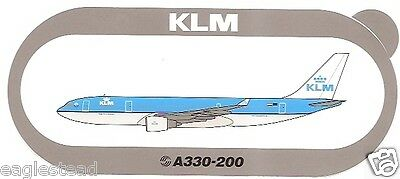 Baggage Label - KLM - A330 200 - Airbus - NO Air France at Nose - Sticker (BL501