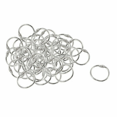 50 Pcs Staple Book Binder 30mm Outer Diameter Loose Leaf Ring Keychain