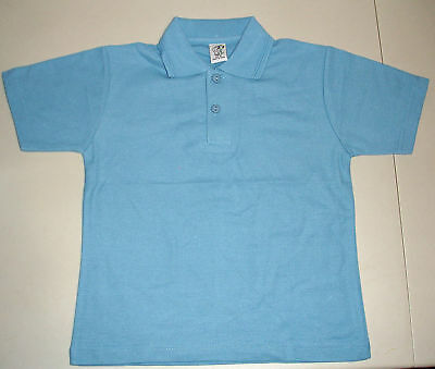NEW school uniform polo shirt unisex Blue size 5 to 16