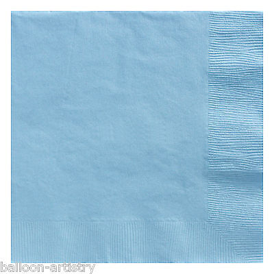 50 Baby Blue 33cm Paper Napkins Serviettes Birthday Wedding Party Catering