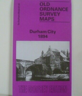 Old Ordnance Survey Maps Durham City Co Durham 1894 Godfrey Edition New Offer