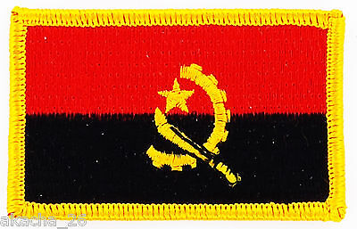 Patch Ecusson Brode Drapeau Angola Insigne Thermocollant Neuf Flag Patche
