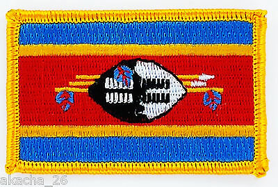 Patch Ecusson Brode Drapeau Swaziland  Insigne Thermocollant Neuf Flag Patche