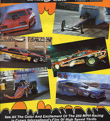 POMONA RACEWAY/FUNNY CARS/FUEL INJECTED DRAGSTERS Original 1979 Movie Pressbook
