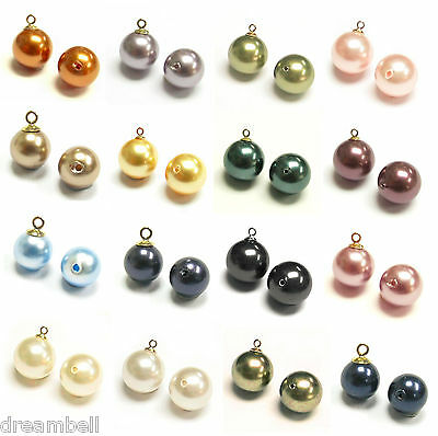 Swarovski 8mm Half Drilled Pearls Round Pastel Rose Beads Pack of 2 H75//3