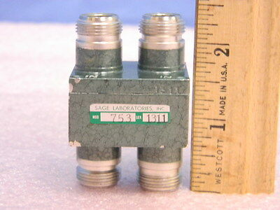 Sage Laboratories 753 Quadrature Hybrid Coupler 3dB 2-4 GHz Type-N