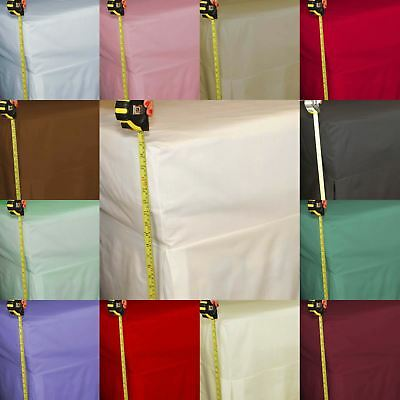 "Percale Fitted Valance Sheet 180 Thread Count 26"" Extra Deep Box Bed Skirt"
