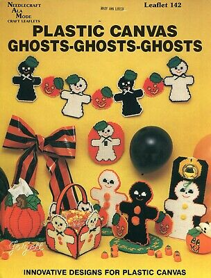 Ghosts Ghosts Ghosts, Halloween Basket Tissue & More plastic canvas pattern book