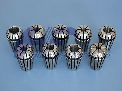 "NEW Precision ER16 ER-16 9 PCS Spring Collet Set 1/8 - 3/8"" With 3/16 1/4 5/16"