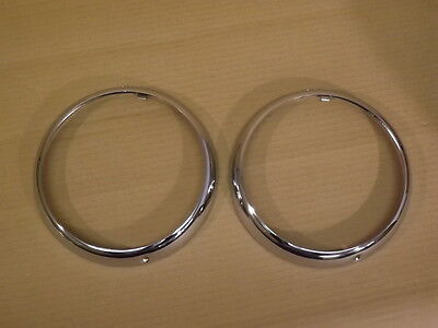 Classic Mini Chrome Outer Headlamp Rings  Hr-1 Sold As A Pair