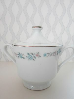 "Nasco Fine China ""Belmont"" Sugar Bowl/Lid  5"" to Top of Lid"